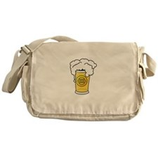 Dog Beers White Messenger Bag