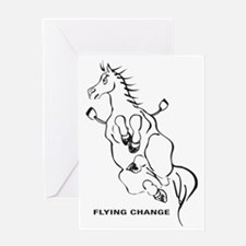 FLYING-CHANGE-BLA Greeting Card