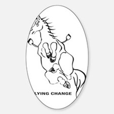 FLYING-CHANGE-BLA Sticker (Oval)