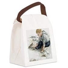 Boy Feeding Squirrel Canvas Lunch Bag