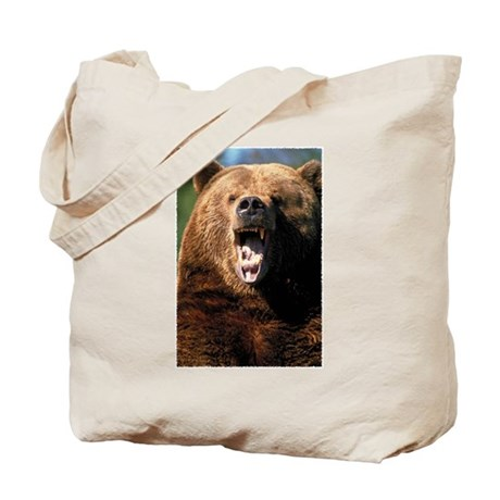 Brown Bear Face Tote Bag