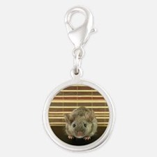 Mousey Silver Round Charm