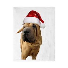 christmas shar pei dog Twin Duvet
