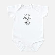 i'm in allen Infant Bodysuit