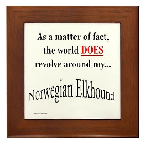 Elkhound World Framed Tile