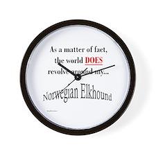 Elkhound World Wall Clock