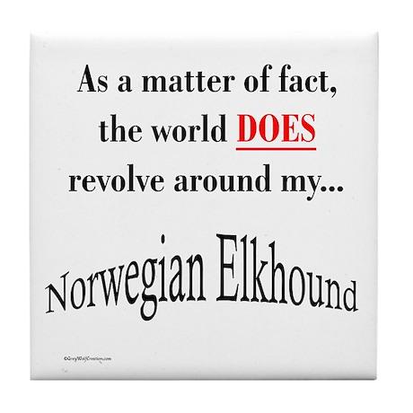 Elkhound World Tile Coaster
