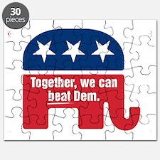 GOP BEAT DEM LOGO Puzzle