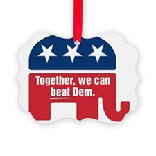 GOP BEAT DEM LOGO Ornament