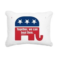 GOP BEAT DEM LOGO Rectangular Canvas Pillow