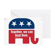 GOP BEAT DEM LOGO Greeting Card