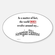 Elkhound World Oval Decal