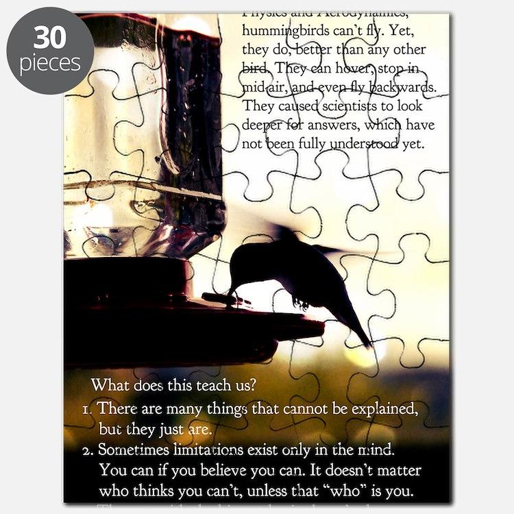 Hummingbird Poster Puzzle