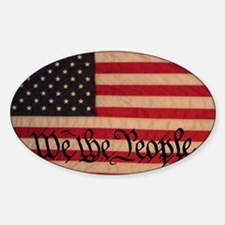 WE THE PEOPLE WITH FLAG OF AMERICA Decal
