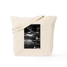 Horses In Water Tote Bag
