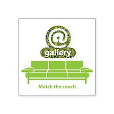"@Couch Square Sticker 3"" x 3"""