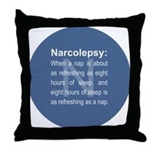 When a nap refreshes... Throw Pillow