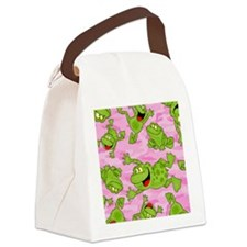 Leaping Frogs Canvas Lunch Bag