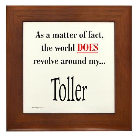 Toller World Framed Tile