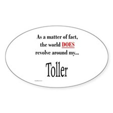 Toller World Oval Decal
