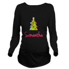 Christmas-tree-Saman Long Sleeve Maternity T-Shirt