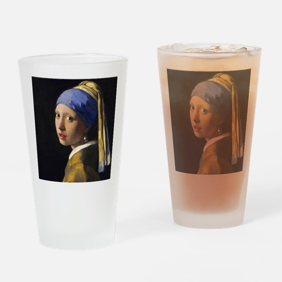 Pillow Vermeer Pearl Drinking Glass