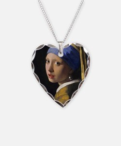 RM Vermeer Pearl Necklace Heart Charm