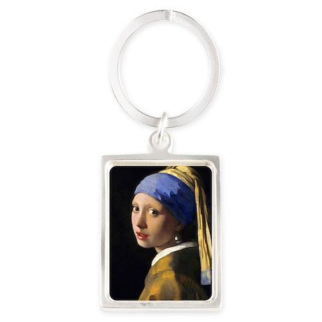 RM Vermeer Pearl Portrait Keychain