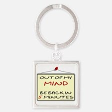 OutOfMyMind Square Keychain
