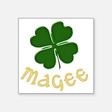 "magee Square Sticker 3"" x 3"""