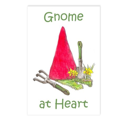 Gnome at Heart Postcards (Package of 8)
