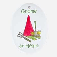 Gnome at Heart Oval Ornament