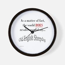 Sheepdog World Wall Clock