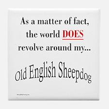 Sheepdog World Tile Coaster