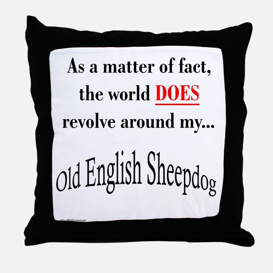 Sheepdog World Throw Pillow