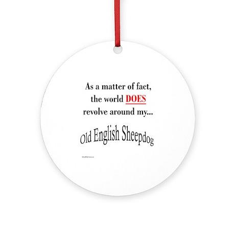 Sheepdog World Ornament (Round)