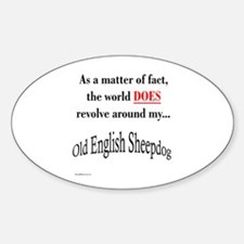 Sheepdog World Oval Decal