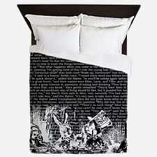 alice-vintage-border_black_14-333x18v2 Queen Duvet