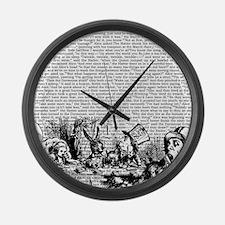 alice-vintage-border_bw_14-333x18 Large Wall Clock