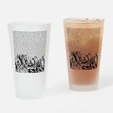 alice-vintage-border_bw_14-333x18v2 Drinking Glass