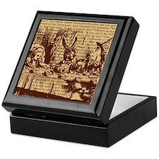 alice-vintage-border_brown_12-5x13-5h Keepsake Box