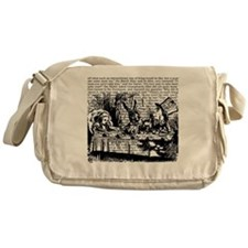 alice-vintage-border_bw_9x9 Messenger Bag