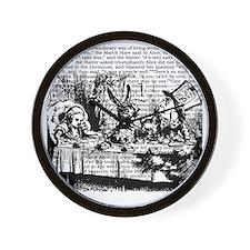 alice-vintage-border_bw_9x9 Wall Clock