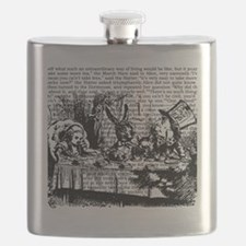 alice-vintage-border_bw_9x9 Flask