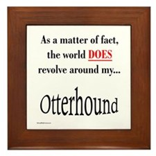 Otterhound World Framed Tile