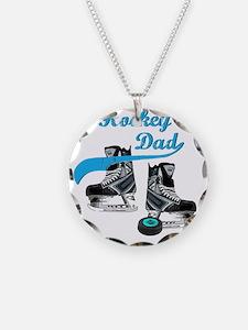 hockey_dad_blue Necklace