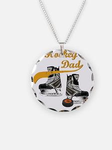 hockey_dad_writing Necklace