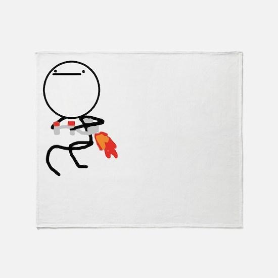 nothingtodoheremustgodark Throw Blanket