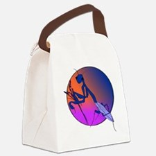 Praying Mantis Meditation Canvas Lunch Bag