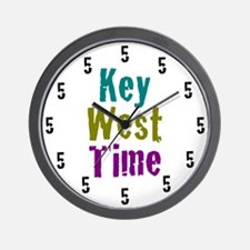 12x12at200KeyWestTimeWht Wall Clock